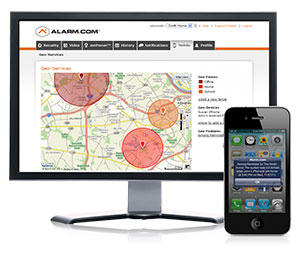 geo enabled alarm systems