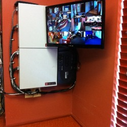 HD security monitor installation