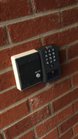 intercom and access keypad